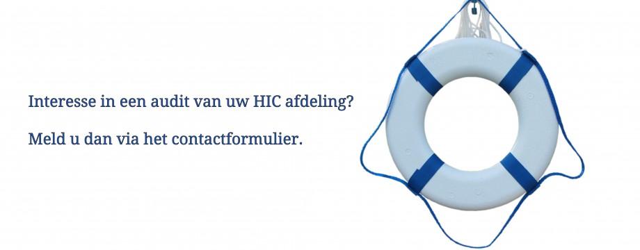 Interesse in een audit van uw HIC Afdeling?